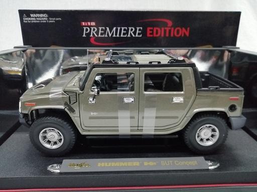 Hummer H2 SUT Concept 2003 Grijs 1-18 Maisto
