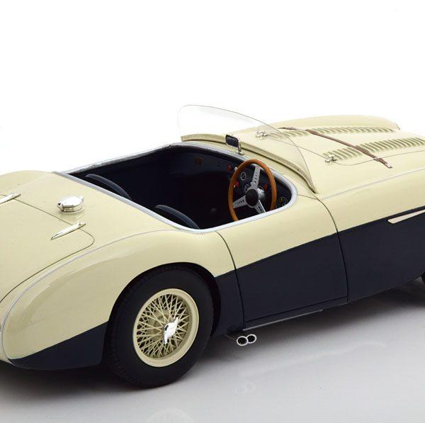 Austin Healey 100S 1955 Blauw/Wit 1-18 Cult Scale Models