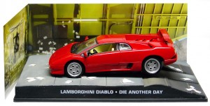 "Lamborghini Diablo Rood ""Die Another Day "" 1-43 Altaya James Bond 007 Collection"