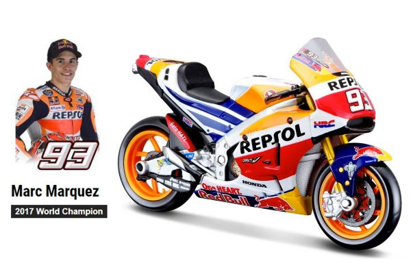 Honda Repsol RC213V #93 Marc Marquez World Champion 2017 1-18 Maisto