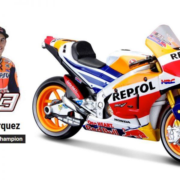 Honda Repsol RC213V #93 Marc Marquez World Champion 2017 1-18 Maisto