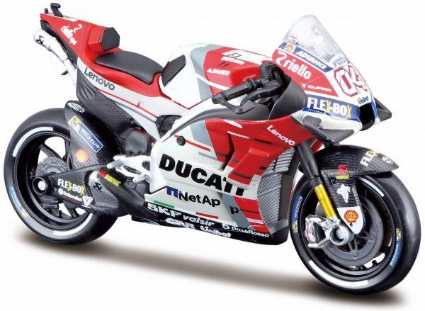 Ducati Desmosedice Motor GP 2018 Driver: Andrea Dovizioso 1-18 Maisto