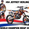 KTM 450 SX-F #84 Jeffrey Herlings (Dutch Rider) Red Bull KTM Supercross World Champion 2018 1-18 Burago