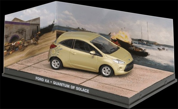 "Ford Ka 2008 Goud ""Quantum of Solace"" 1:43 Altaya James Bond 007 Collection"
