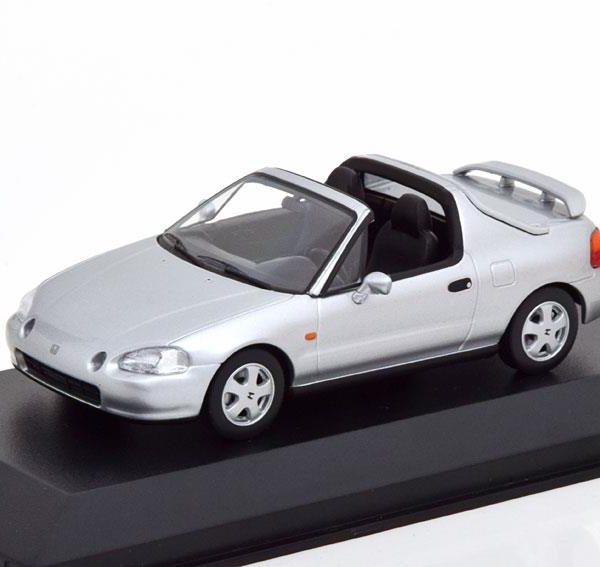 Honda CR-X De Sol 1992 Zilver Metallic 1-43 Maxichamps