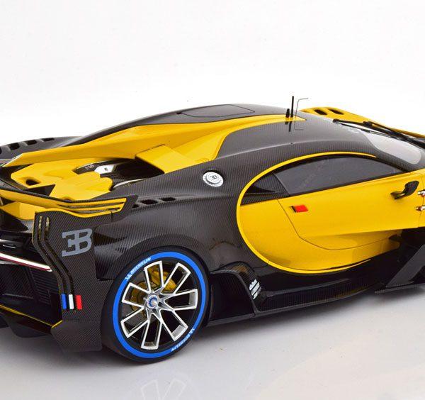 Bugatti Vision GT 2015 Geel / Zwart 1-18 Autoart