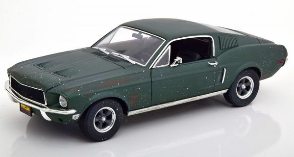 """Ford Mustang GT Fastback 1968 """"Bullit""""Unrestored Version 1-18 Greenlight Collectibles"""