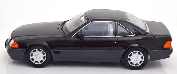 Mercedes-Benz 500 SL 1993 ( R129 )Cabriolet met Hardtop Zwart 1-18 KK Scale Limited 1250 Pieces