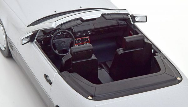Mercedes-Benz 500 SL 1993 ( R129 )Cabriolet met Hardtop Zilver 1-18 KK Scale Limited 1000 Pieces