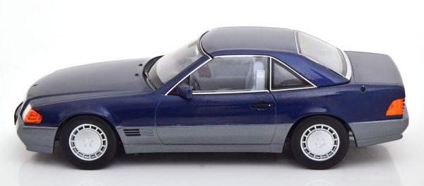 Mercedes-Benz 500 SL 1993 ( R129 )Cabriolet met Hardtop Blauw 1-18 KK Scale Limited 750 Pieces