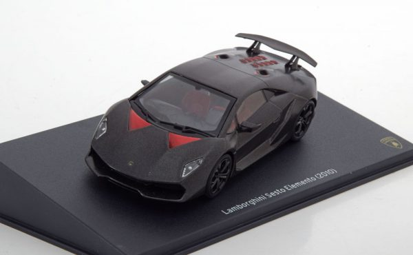 Lamborghini Sesto Elemento 2010 Matgrijs / Rood 1-43 Altaya Lamborghini Collection
