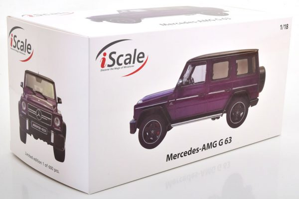 Mercedes-Benz G63 AMG 2015 ( Crazy Colors) Paars / Zwart 1-18 Iscale Limited 600 Pieces