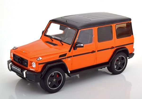 Mercedes-Benz G63 AMG 2015 ( Crazy Colors) Oranje / Zwart 1-18 Iscale Limited 600 Pieces