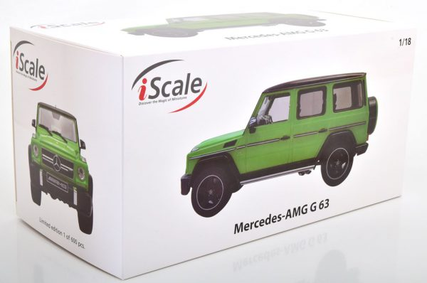 Mercedes-Benz G63 AMG 2015 ( Crazy Colors) Groen / Zwart 1-18 Iscale Limited 600 Pieces