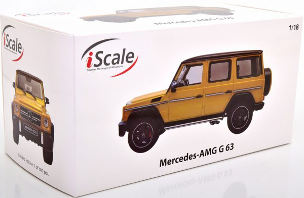 Mercedes-Benz G63 AMG 2015 ( Crazy Colors) Geel / Zwart 1-18 Iscale Limited 600 Pieces