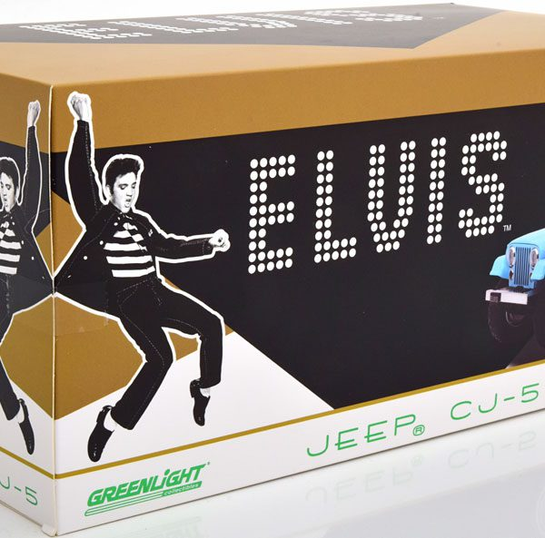 "Jeep CJ-5 ""Elvis Presley"" Blauw 1-18 Greenlight Collectibles"