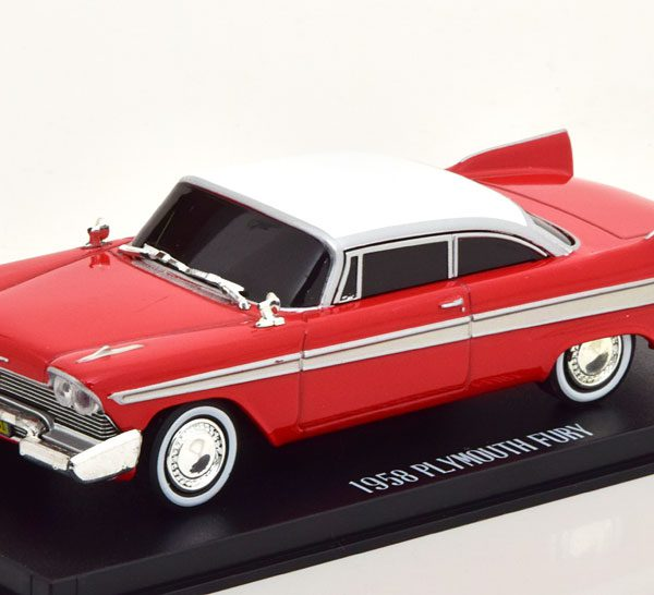 "Plymouth Fury 1958 Evil Version ""Christine"" Rood / Wit 1-43 Greenlight Collectibles"