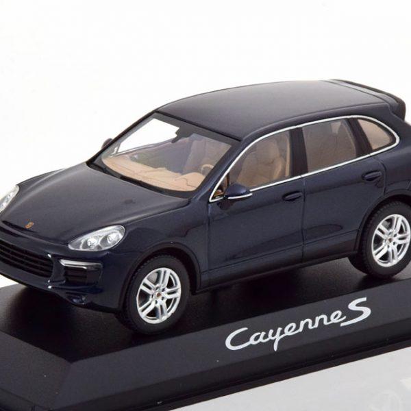 Porsche Cayenne S ( E2 ) Facelift 2014 Donkerblauw Metallic 1-43 Minichamps