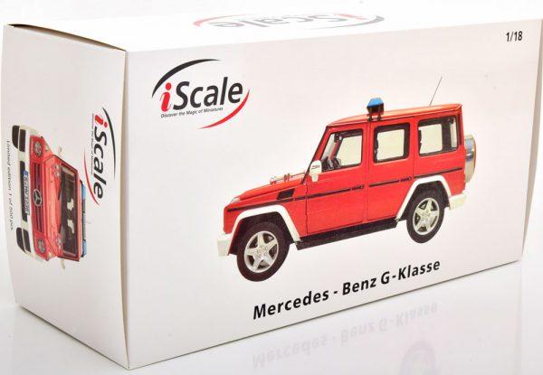 Mercedes-Benz G-Klasse 2015 ( W463 ) Brandweer Rood 1-18 Iscale Limited 500 Pieces