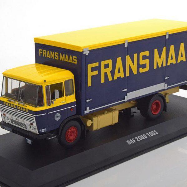 "Daf 2600 1965 ""Frans Maas"" Blauw/Geel 1-43 Ixo Models"