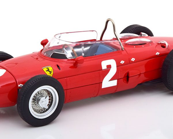 Ferrari 156 Sharknose Nr# 2 GP Italy 1961 World Champion P.Hill Rood 1-18 CMR Models