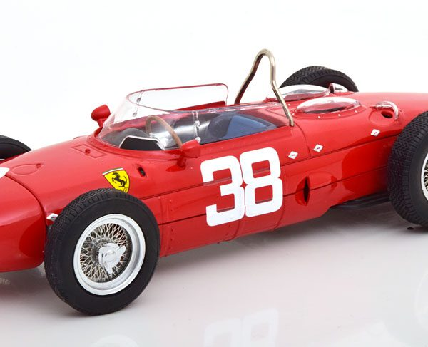 Ferrari 156 Sharknose Nr# 38 GP Monaco 1961 , World Champion P.Hill Rood 1-18 CMR Models