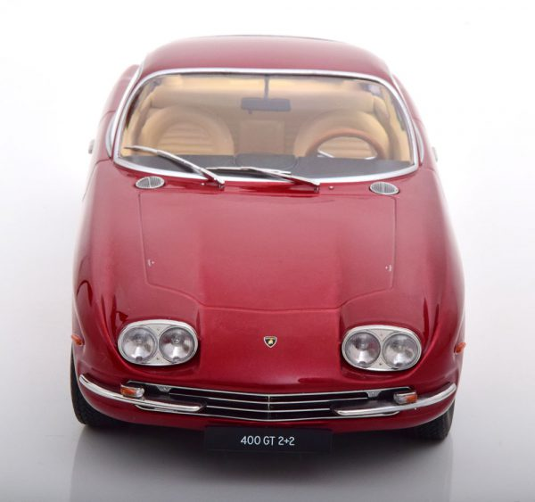 Lamborghini 400 GT 2+2 1965 Rood Metallic 1-18 KK Scale Limited 500 Pieces