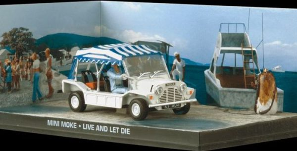 "Mini Moke Wit ""Live and Let Die "" 1-43 Altaya James Bond 007 Collection"