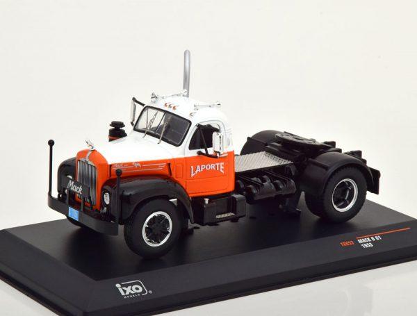 Mack B61 1953 Wit / Oranje 1-43 Ixo Models