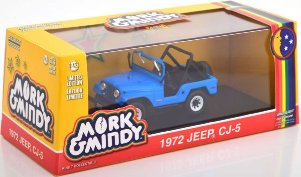 "Jeep CJ-5 1972 ""Mork & Mindy"" Blauw 1-43 Greenlight Collectibles"