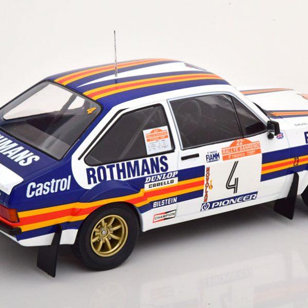 "Ford Escort MK 2 RS 1800 No.4, Rally San Remo 1980 ""Rothmans""Vatanen/Richards 1-18 Ixo Models"