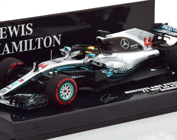 Mercedes-AMG Petronas Motorsport F1 W09 EQ Power+ Winner GP Abu Dhabi 2018, Worldchampion 2018 L.Hamilton 1-43 Minichamps Limited 318 Pieces
