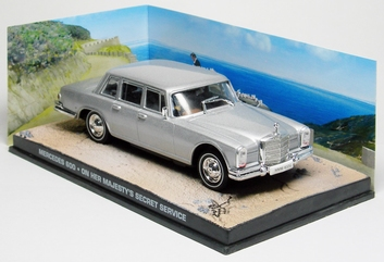 "Mercedes-Benz 600 Zilver ""On Her Majesty's Secret Service "" 1-43 Altaya James Bond 007 Collection"