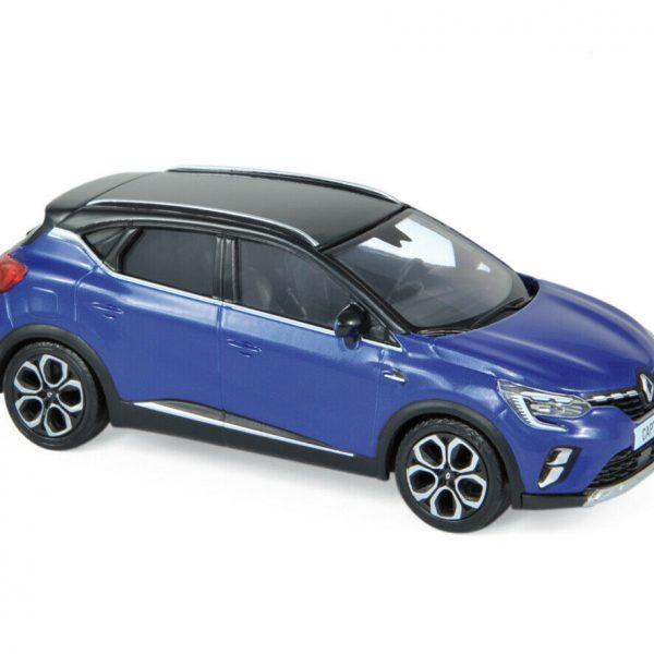 Renault Captur 2020 Blauw / Zwart Dak 1-43 Norev