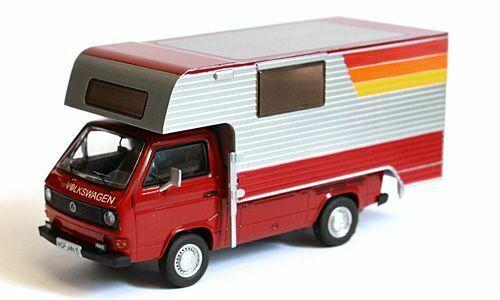 Volkswagen T3a Pritschenwagen Camper Rood 1-43 Premium Classixxs Limited 750 Pieces