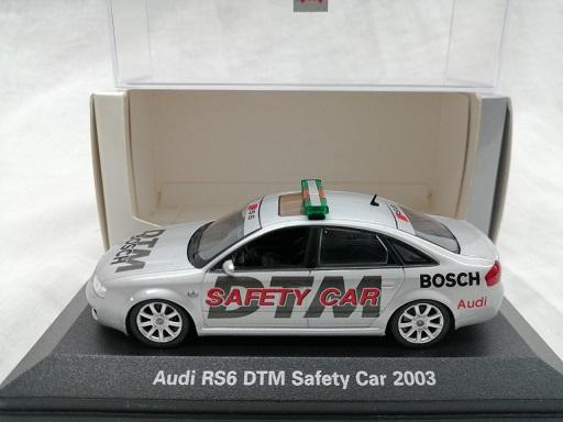 Audi RS6 DTM Safety Car 2003 Zilver 1-43 Minichamps