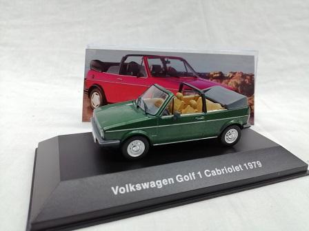 Volkswagen Golf 1 Cabriolet 1979 1-43 Groen Altaya