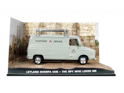 "Leyland Sherpa Van ""The Spy who loved me "" Grijs 1-43 Altaya James Bond 007 Collection"