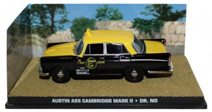 "Austin A55 Cambridge Mark II ""Dr No "" Geel / Zwart 1-43 Altaya James Bond 007 Collection"
