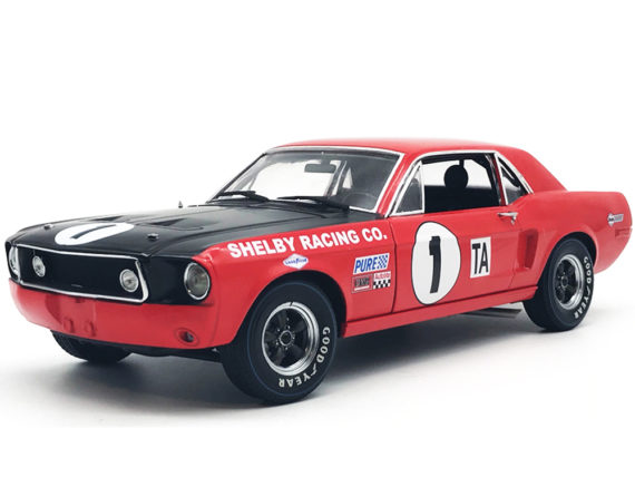 Shelby Mustang #1 GT- 350*Jerry Titus* 1968 Daytona 24H Trans Am Champion 1-18 ACME Limited Edition