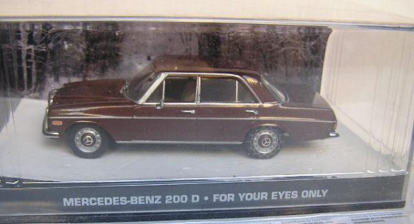 "Mercedes-Benz 200 D James Bond ""For Your Eyes Only"" 1-43 Altaya James Bond 007 Collection"