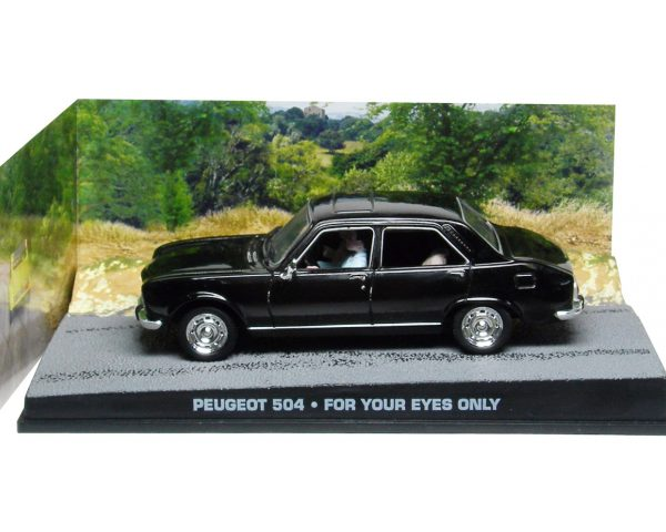 "Peugeot 504 James Bond ""For Your Eyes Only"" Zwart 1-43 Altaya James Bond 007 Collection"