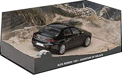 "Alfa Romeo 159 James Bond 2006 ""Quantum of Solace""Zwart 1-43 Altaya James Bond 007 Collection"