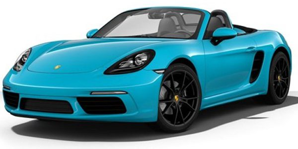 Porsche 718 Boxster Cabriolet Blauw 1-24 Burago