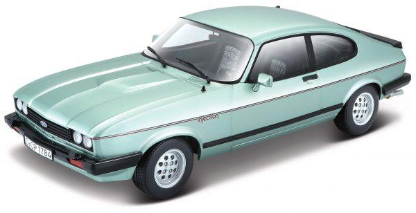 Ford Capri III 1982 Zilverblauw 1-24 Burago