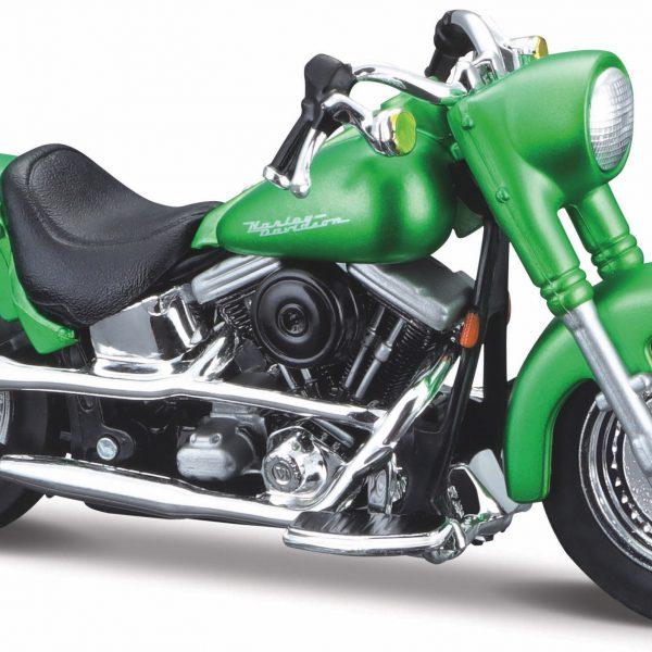 Harley-davidson FLSTF Street Stalker 2000 Groen 1-18 Maisto