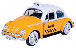 Volkswagen Kever 1966 Taxi 1-24 Geel / Wit Motormax