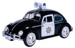 Volkswagen Kever Police 1-24 Zwart / Wit Motormax