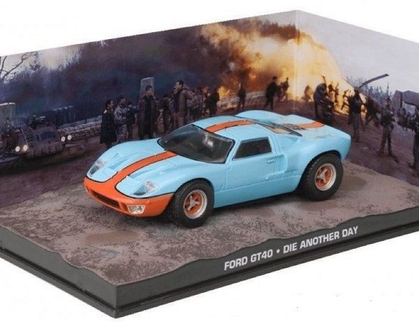 """Ford GT40 James Bond """"Die Another Day"""" 1-43 Altaya James Bond Collection"""