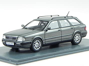 Audi 80 Avant 1993 Grijs metallic 1-43 Neo Scale Models